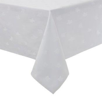 Tafellinnen met klimopbladmotief - wit 100% katoen - verkrijgbaar in 10 maten