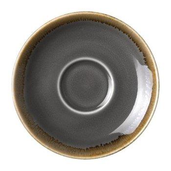 Schoteltje voor espresso 11,5cm - Olympia Kiln - grijs - per 6 stuks