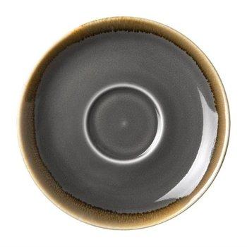 Schoteltje voor koffie 14cm - Olympia Kiln - grijs - per 6 stuks