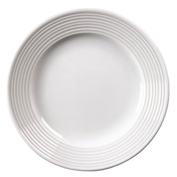 Borden met brede rand Olympia Linear porselein - 12 stuks - Ø15cm