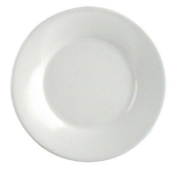 Melamine bord met brede rand | Per 12 stuks | Ø17,8cm