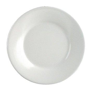 Melamine bord met brede rand | Per 6 stuks | Ø22,9cm