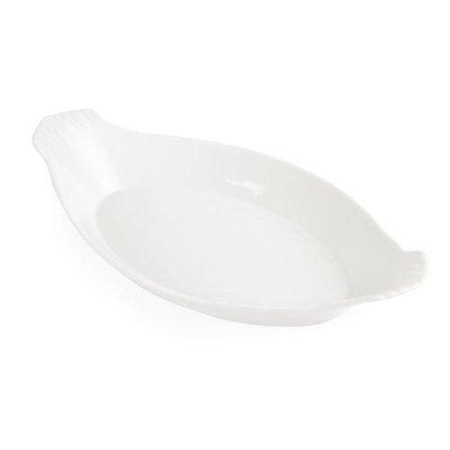 Ovale gratineerschaal met oren porselein | Per 6 stuks | 32x17,7cm