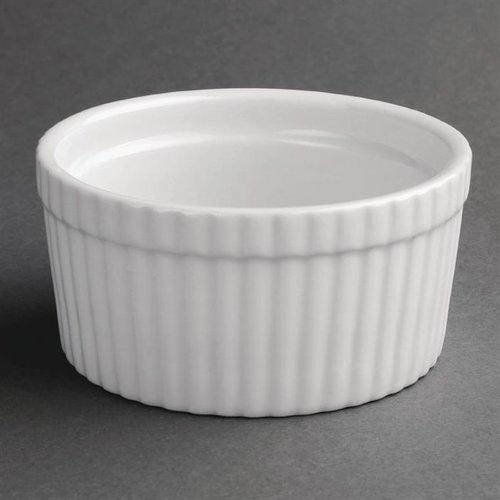 Souffléschaaltjes porselein   Per 6 stuks   Ø10,5cm