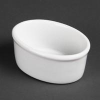Ovale ramekins porselein | 12 stuks | 13cl