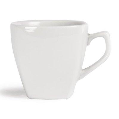 Afgeronde koffiekop porselein | Per 12 stuks | 20cl