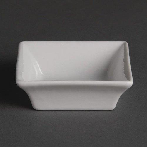 Vierkante amuseschaaltjes porselein | Per 12 stuks | 7,5x7,5cm