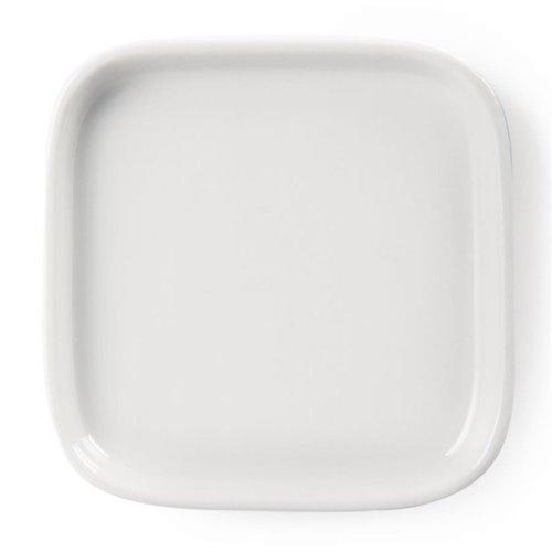 Vierkante platte amuseschaaltjes porselein | Per 12 stuks | 9,3x9,3cm