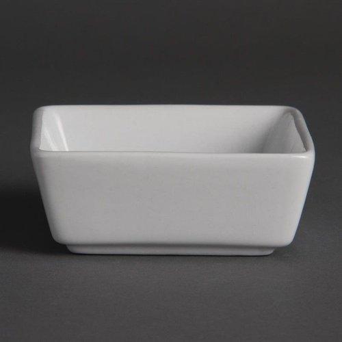Vierkante amuseschaaltjes porselein | Per 12 stuks | 8,5x8,5cm