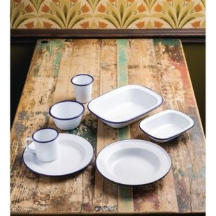 Olympia Emaille Retro servies