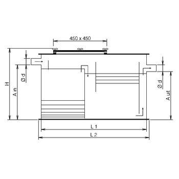 Vetafscheider NEN-EN 1825 gecertificeerd | 0,7L/ sec