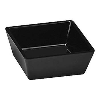 Vierkant melamine schaaltje zwart - 9x9cm