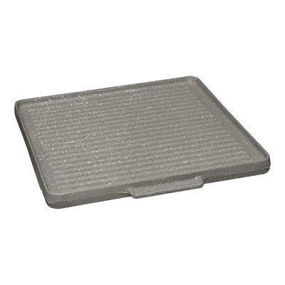 Bak-/ grillplaat glad en geribbeld - 30x30cm