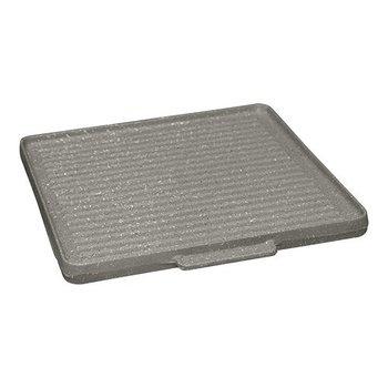 Bak-/ grillplaat glad en geribbeld - 40x40cm