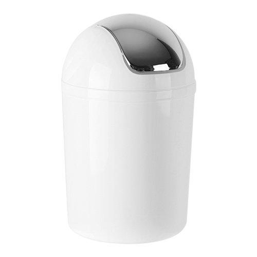 Afvalbak met tuimeldeksel wit - 5 liter