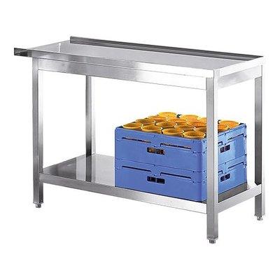 Aan en afvoertafel RVS - 120cm