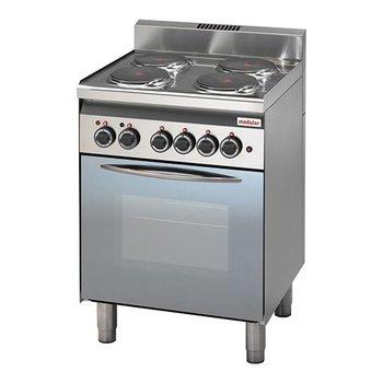 Elektrische fornuis Modular 600 - 4 kookplaten met oven