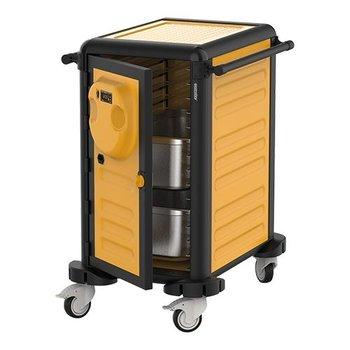 Verwarmde regaal-/ voedseltransportwagen Gastrolley - 15x 1/1GN