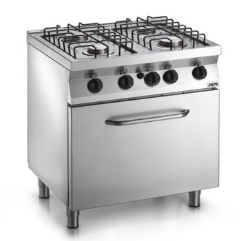 Gasfornuis 4 pits met gas oven - F7/FUG4LO