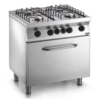 Gasfornuis 4 pits met elektrische oven - F7/FUG4LE