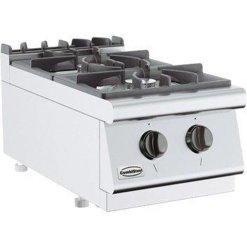 Kooktoestel aardgas 700 Line   2x 6,5kW   (H)30x(B)40x(D)70