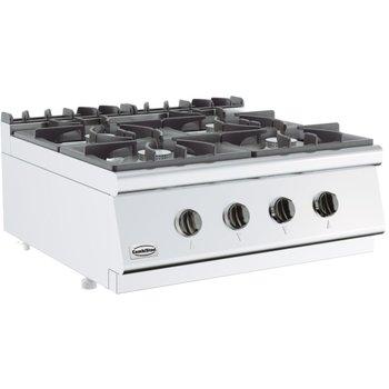 Kooktoestel aardgas 700 Line   4x 6,5kW   (H)30x(B)80x(D)70