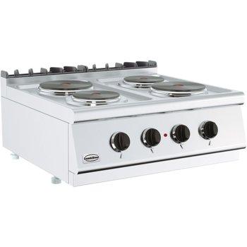 Kooktoestel elektrisch 700 Line   2x 2,25kW + 2x 1,85kW   (H)30x(B)80x(D)70