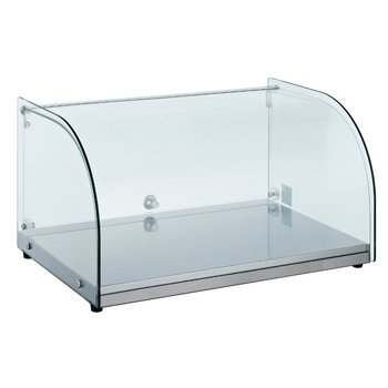 Neutrale display vitrine gebogen | 25L | (H)30,5x(B)55,4x(D)37,6