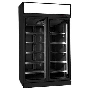 Vrieskast met glazen deur | Zwart | 1000L | (H)209,2x(B)125,3x(D)71