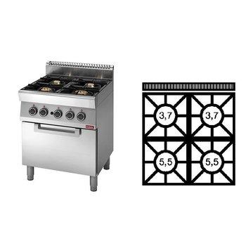 Gasfornuis Modular 700 - 4-pits+oven