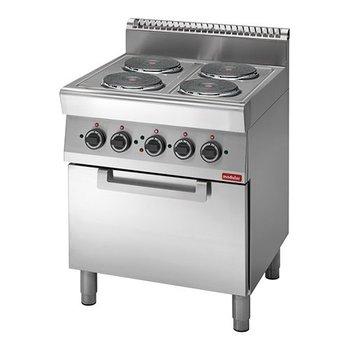 Kookplatentafel elektrisch Modular 700 - 4 platen+oven