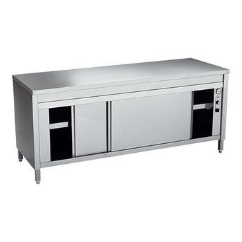 Bordenwarmkast + werktafel Multinox 140cm