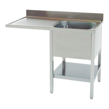 Spoeltafel Multinox met onderruimte 120cm - bak rechts