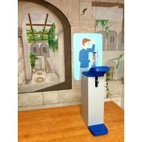 Elleboog dispenser - 1L - wand/tafel model voor universeel gebruik