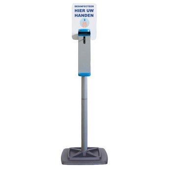Elleboog dispenser paal - desinfectie