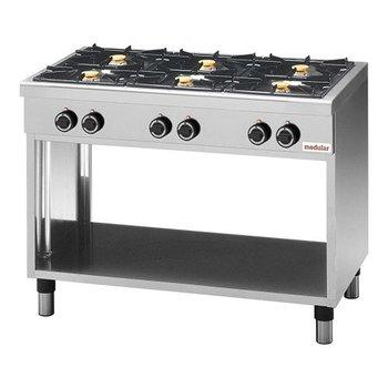 Gaskooktafel Modular 650 - 6-pits aardgas
