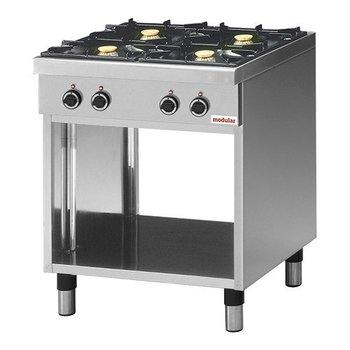 Gaskooktafel Modular 650 - 4-pits aardgas