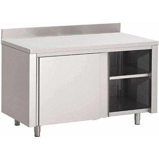 RVS Werktafel met schuifdeuren