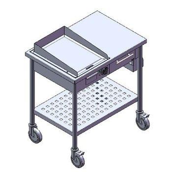 Verrijdbare teppanyaki bakplaat | elektra 2,7kW | (H)85x(B)80x(D)55cm