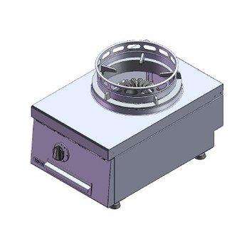 Wokbrander | aardgas | 1 brander | 13kW | (H)30x(B)40x(D)60cm