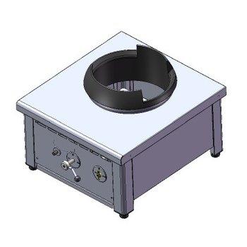 Power wokbrander | aardgas | 1 brander | 28kW | (H)46,7x(B)60x(D)65cm