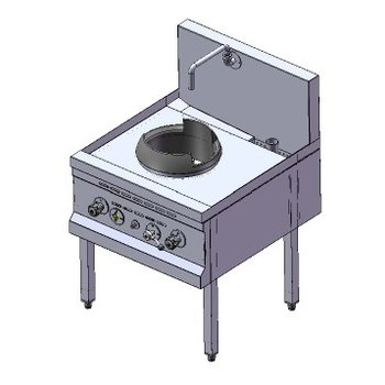Power woktafel | aardgas | 1 brander | 33kW | (H)75/105x(B)70x(D)75cm