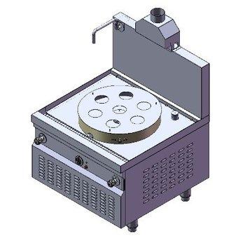 Krachtige dim sum stomer | aardgas | 42kW | (H)75/146x(B)90x(D)90cm