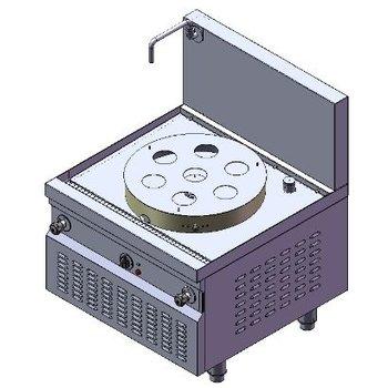 Krachtige dim sum stomer | elektra | 27kW | (H)75/146x(B)90x(D)90cm
