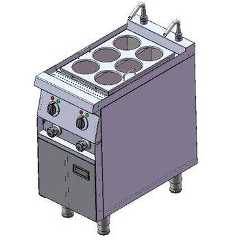 Noodle koker   6 mandjes   400V   13,8kW   (H)85x(B)40x(D)75cm