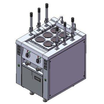 Noodle koker | automatisch | 6 mandjes | 400V | 13,8kW | (H)85x(B)60x(D)75cm