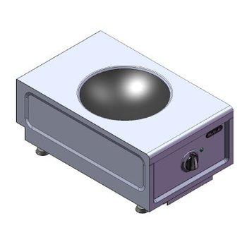 Inductie wok tafelmodel | 230V | 3,5kW | (H)26x(B)38x(D)60cm