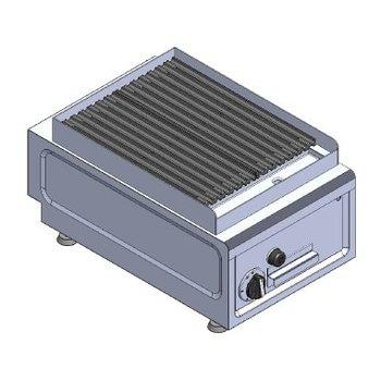 Lavasteen grill tafelmodel | aardgas | 7kW | (H)26/32x(B)38x(D)60cm