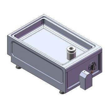 Braadslede tafelmodel   230V   3,6kW   (H)26/29x(B)38x(D)60cm