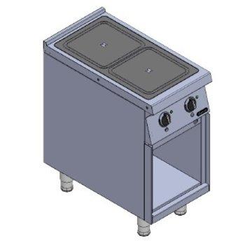 Inductie fornuis | 2 zones | 7kW | (H)85x(B)40x(D)75cm